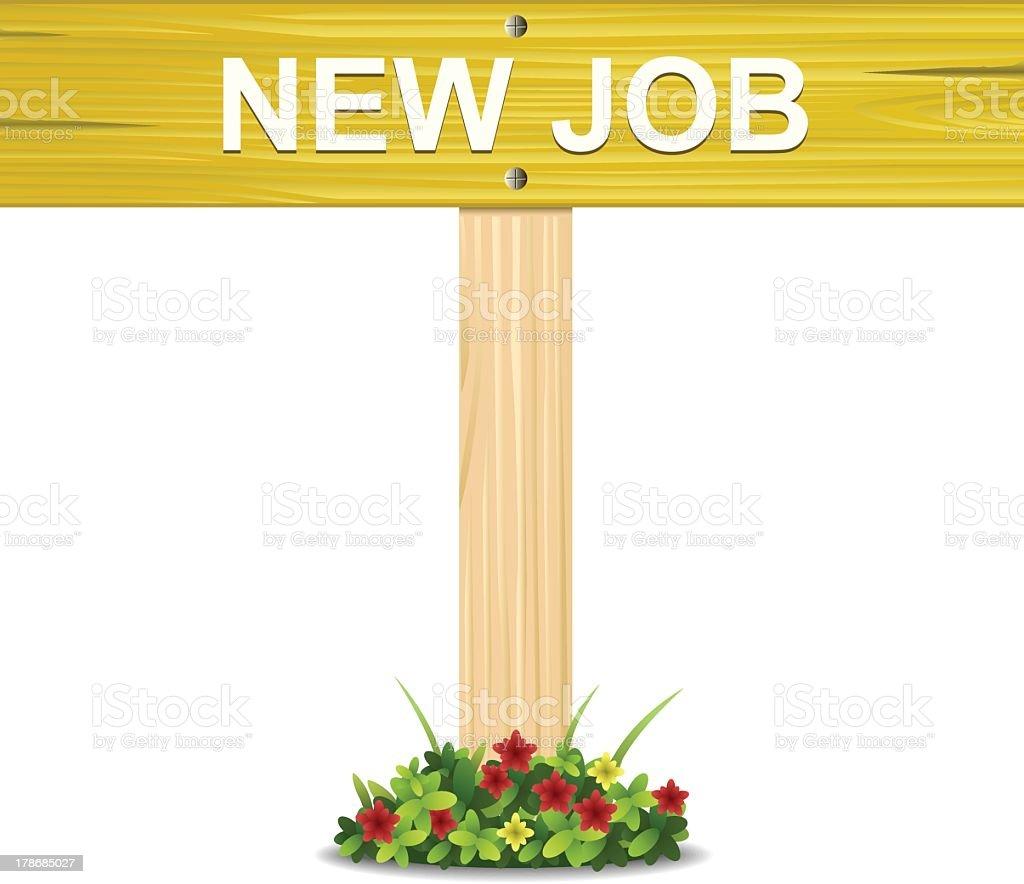 New Job Sign royalty-free stock vector art