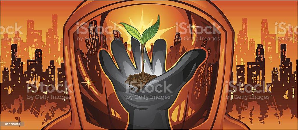 New Life vector art illustration