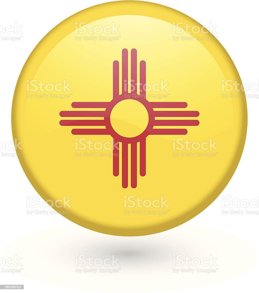New Mexico flag button royalty-free stock vector art