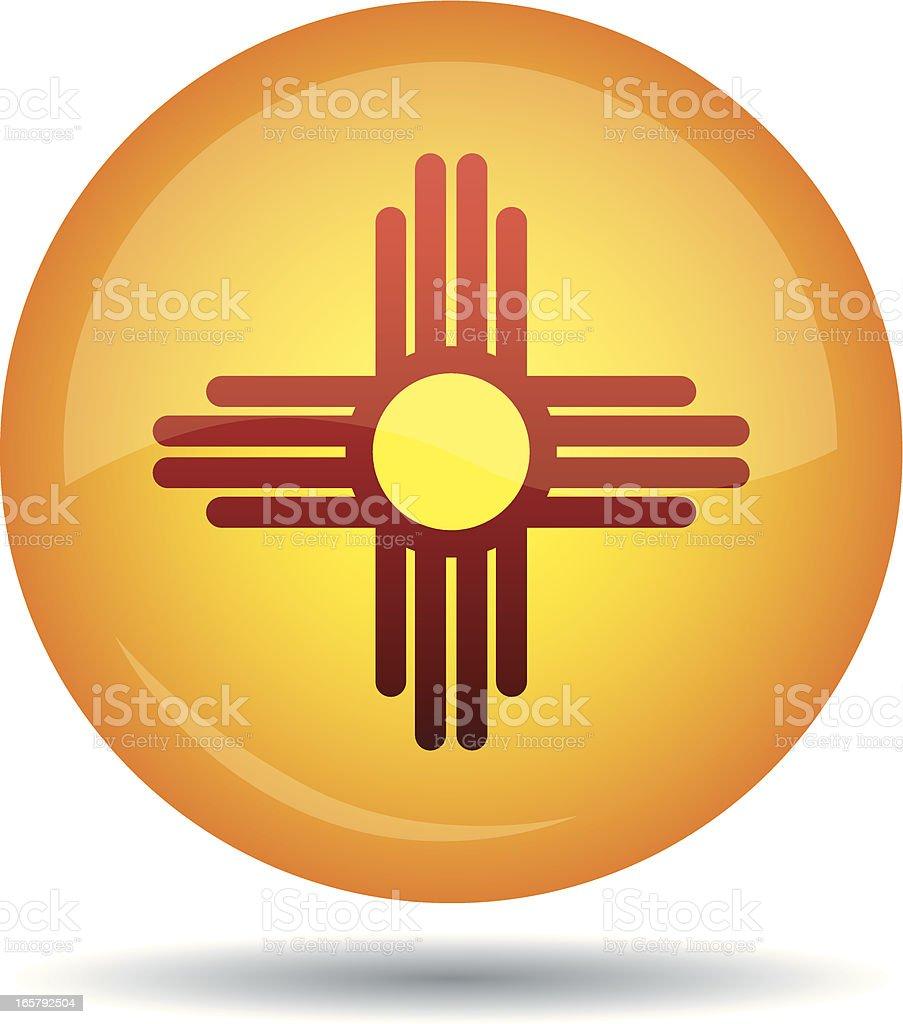 New Mexico flag royalty-free stock vector art