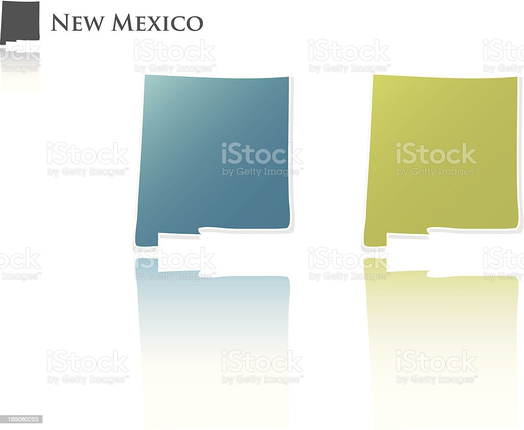 New Mexico State Graphic royalty-free stock vector art
