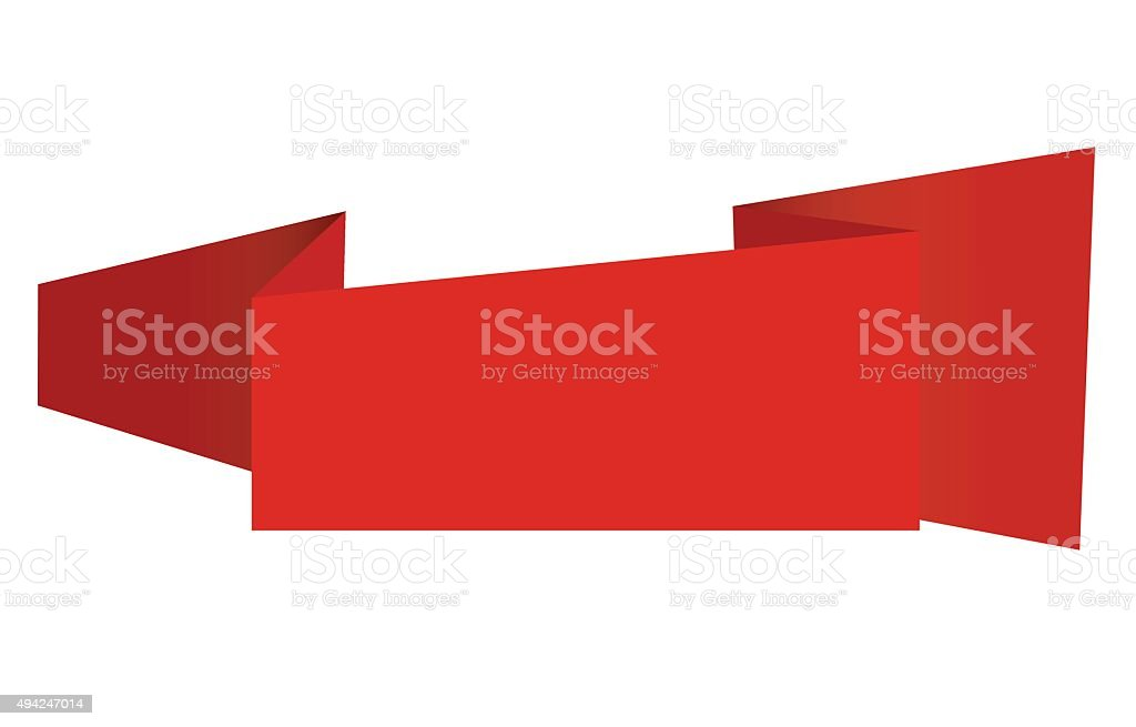 New origami label vector art illustration