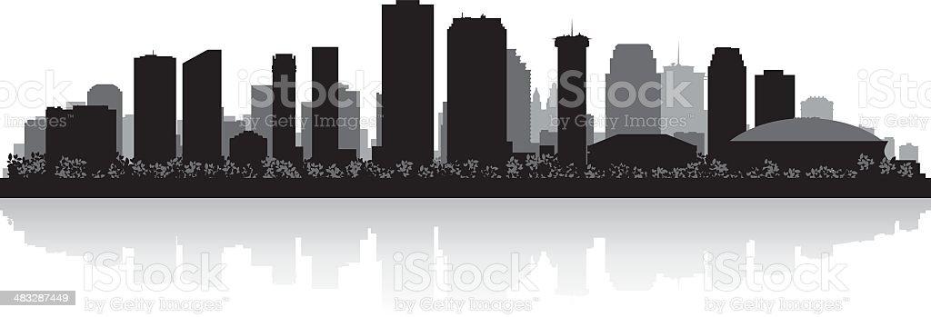 New Orleans City skyline silhouette vector art illustration