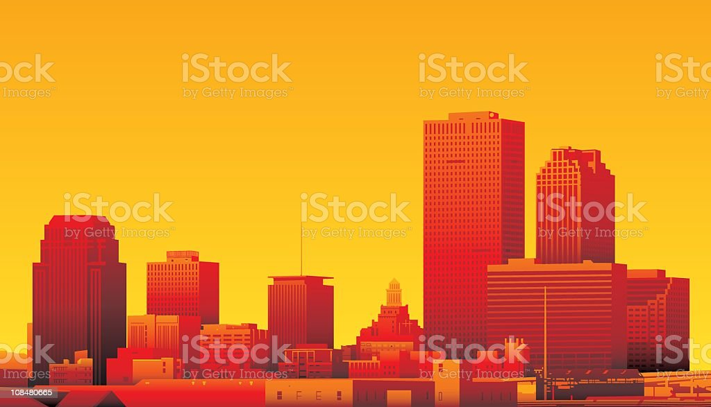 New Orleans, Louisiana royalty-free stock vector art