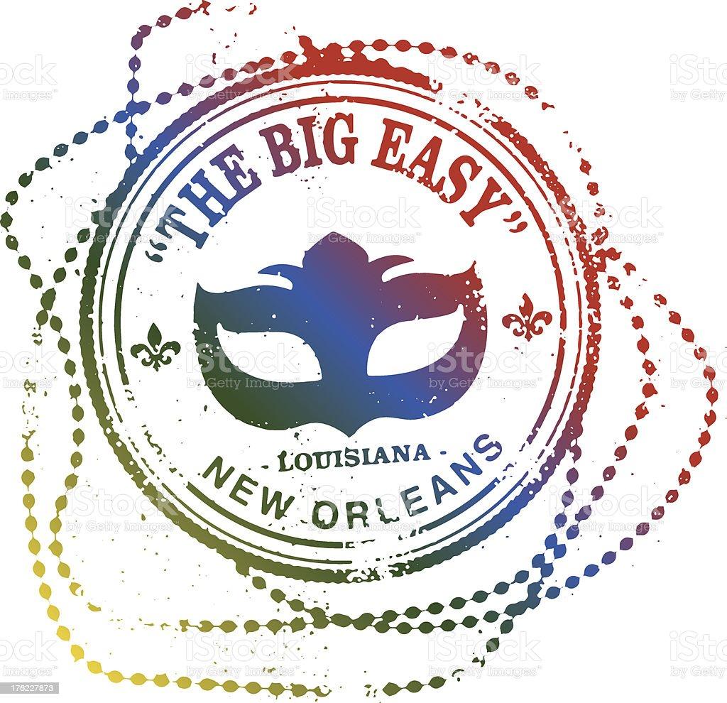New Orleans The Big Easy stamp vector art illustration