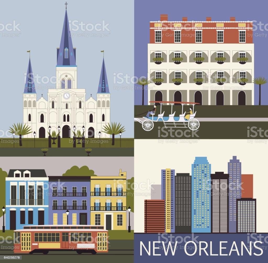 New Orleans. vector art illustration