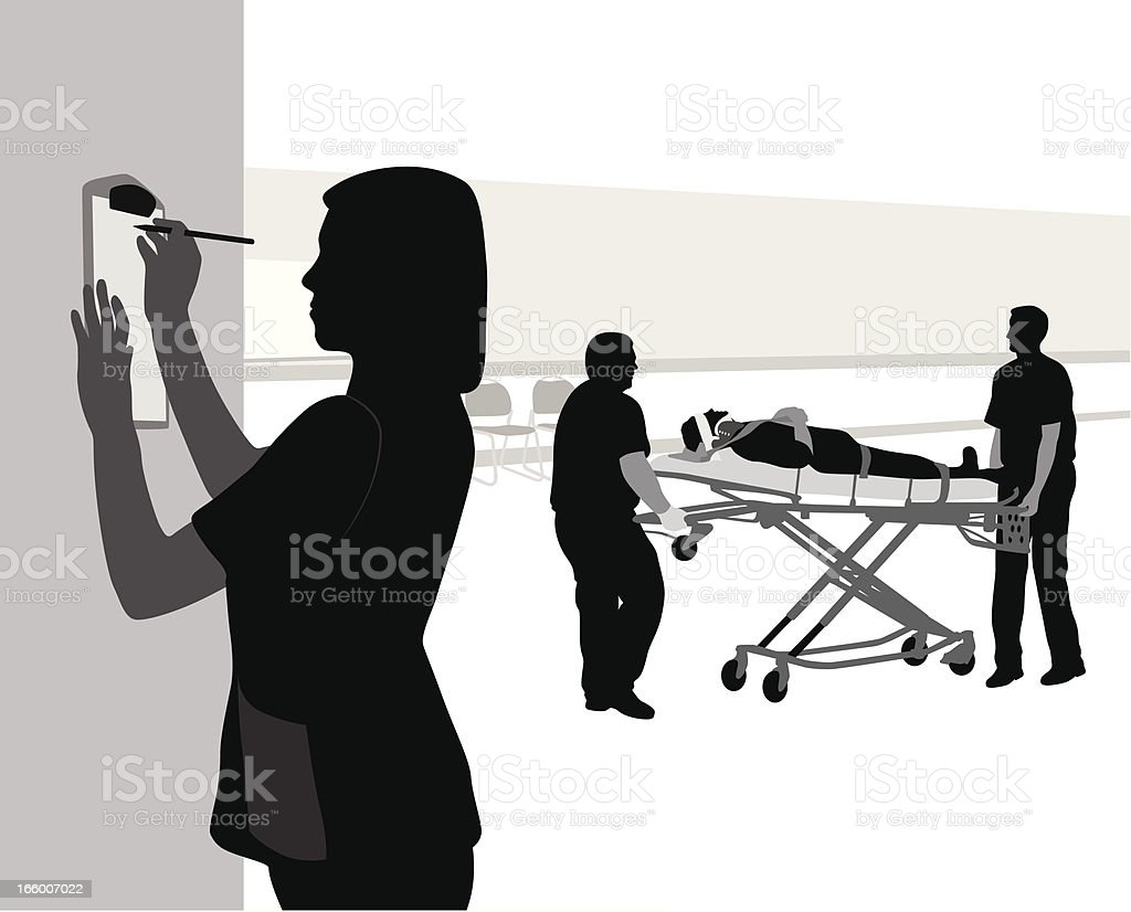 New Patient vector art illustration