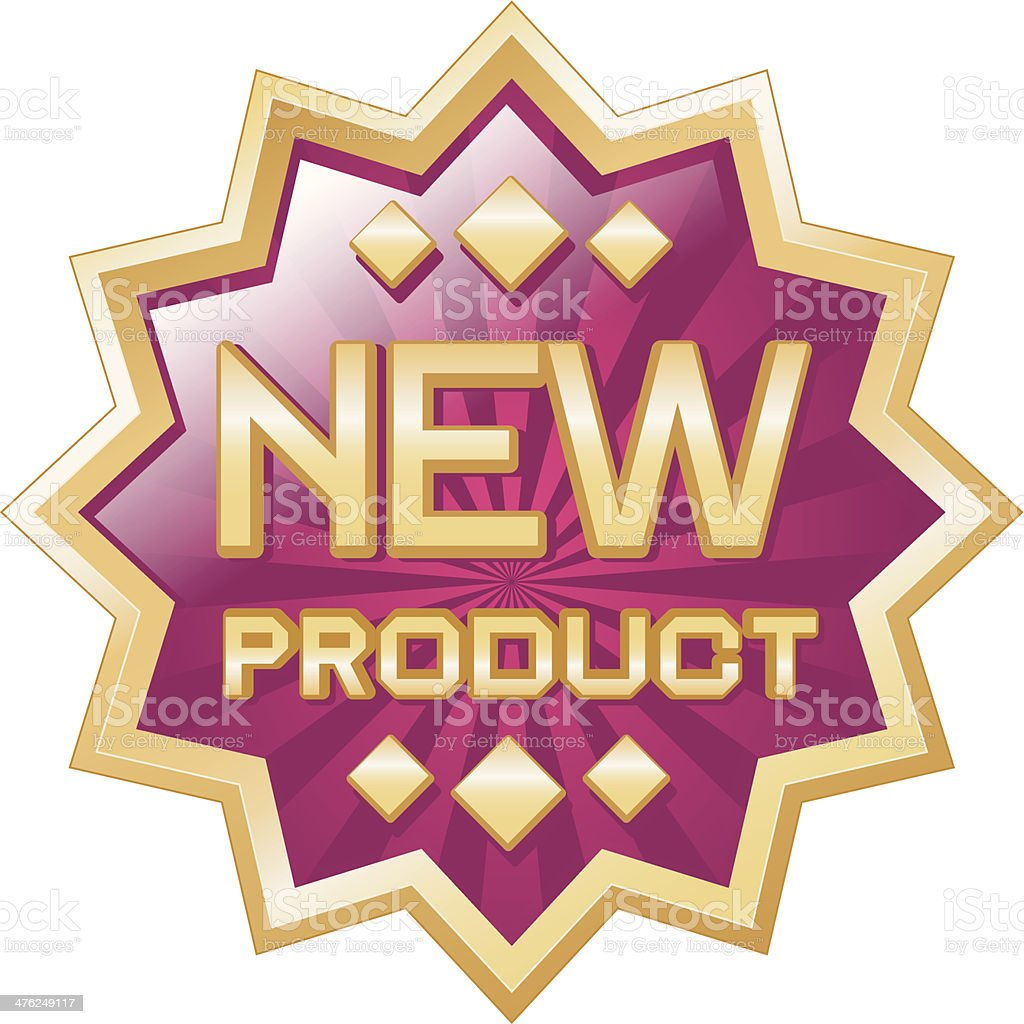 new product gold badge royalty-free stock vector art
