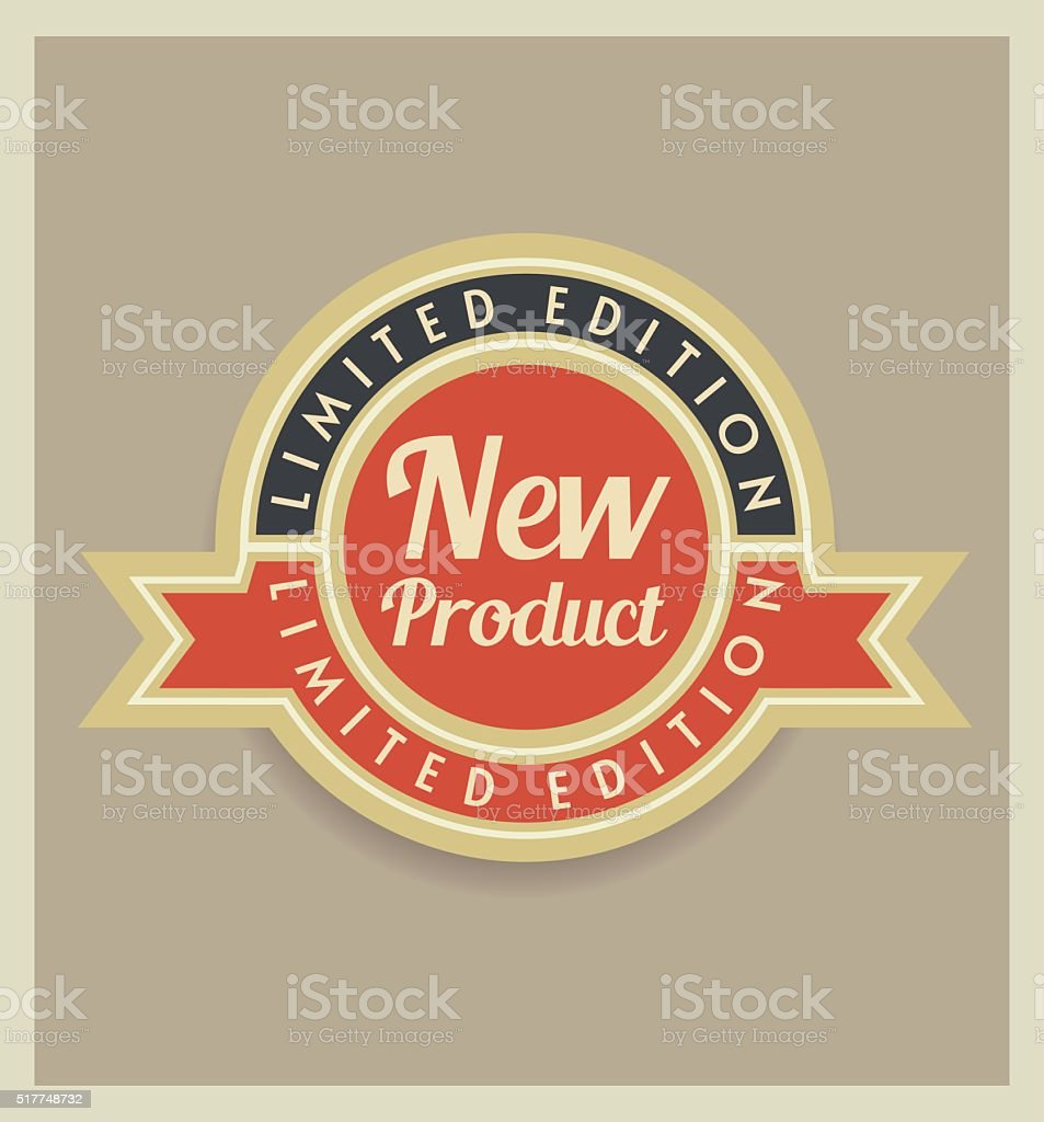 New product retro badge vector art illustration