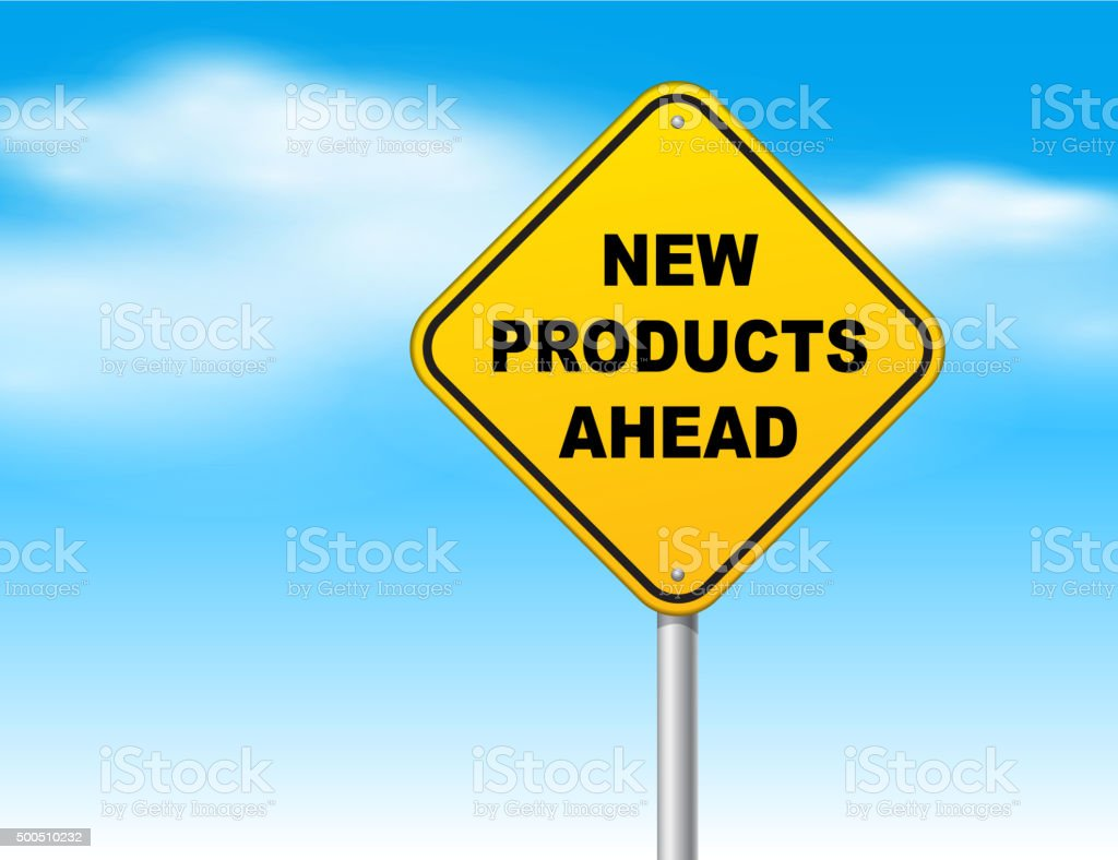New products ahead vector art illustration
