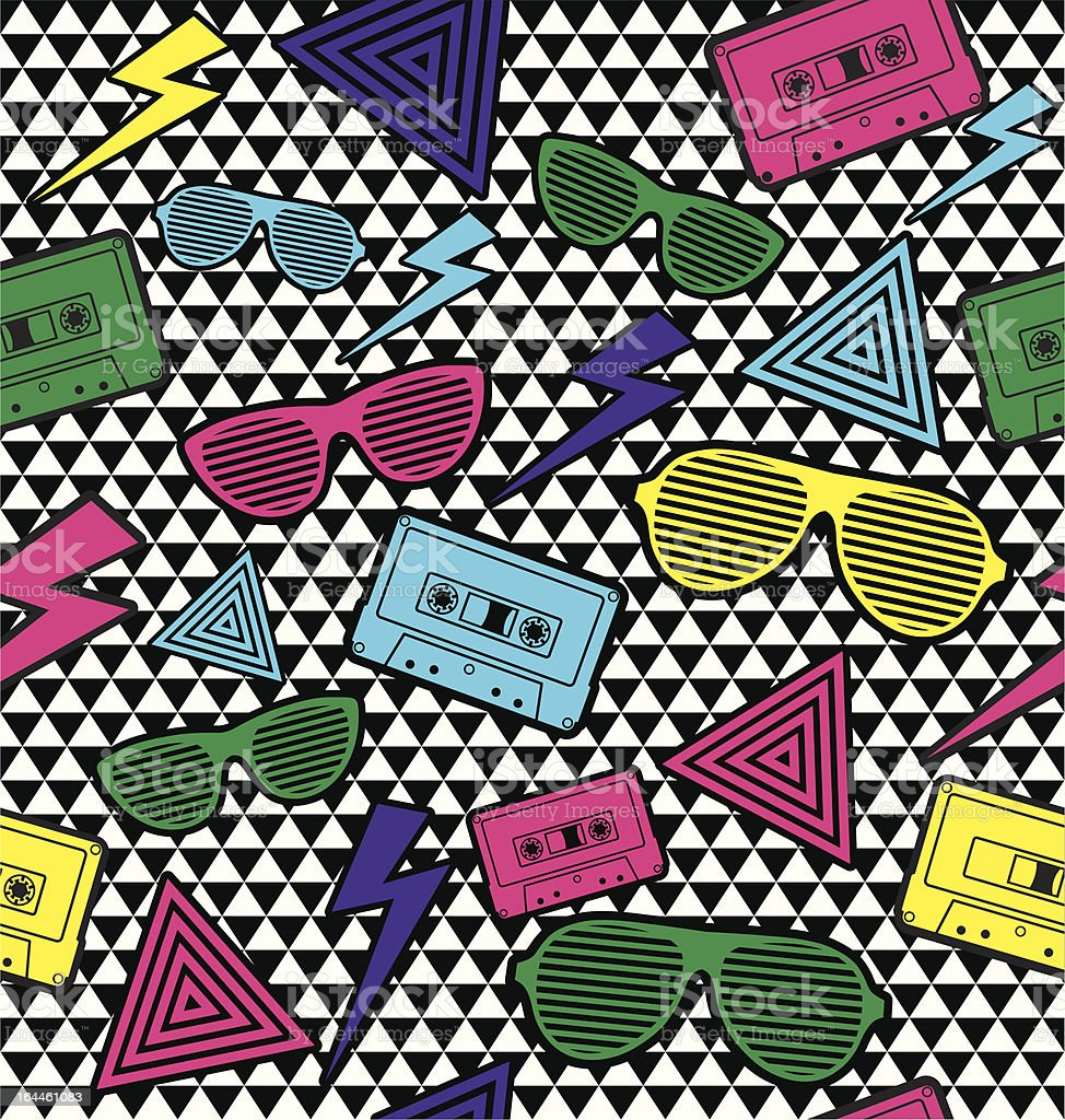 New Rave Pattern. vector art illustration