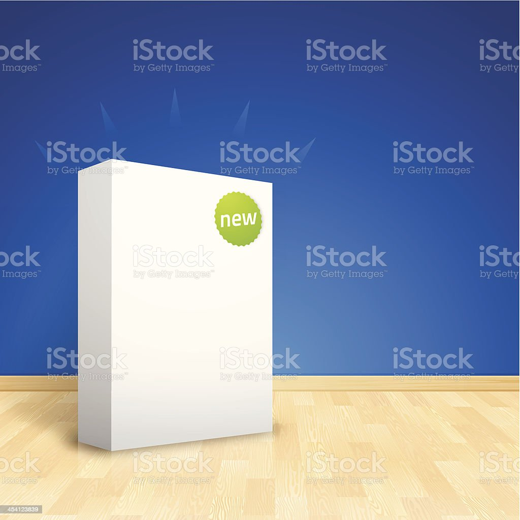 New Software Box vector art illustration