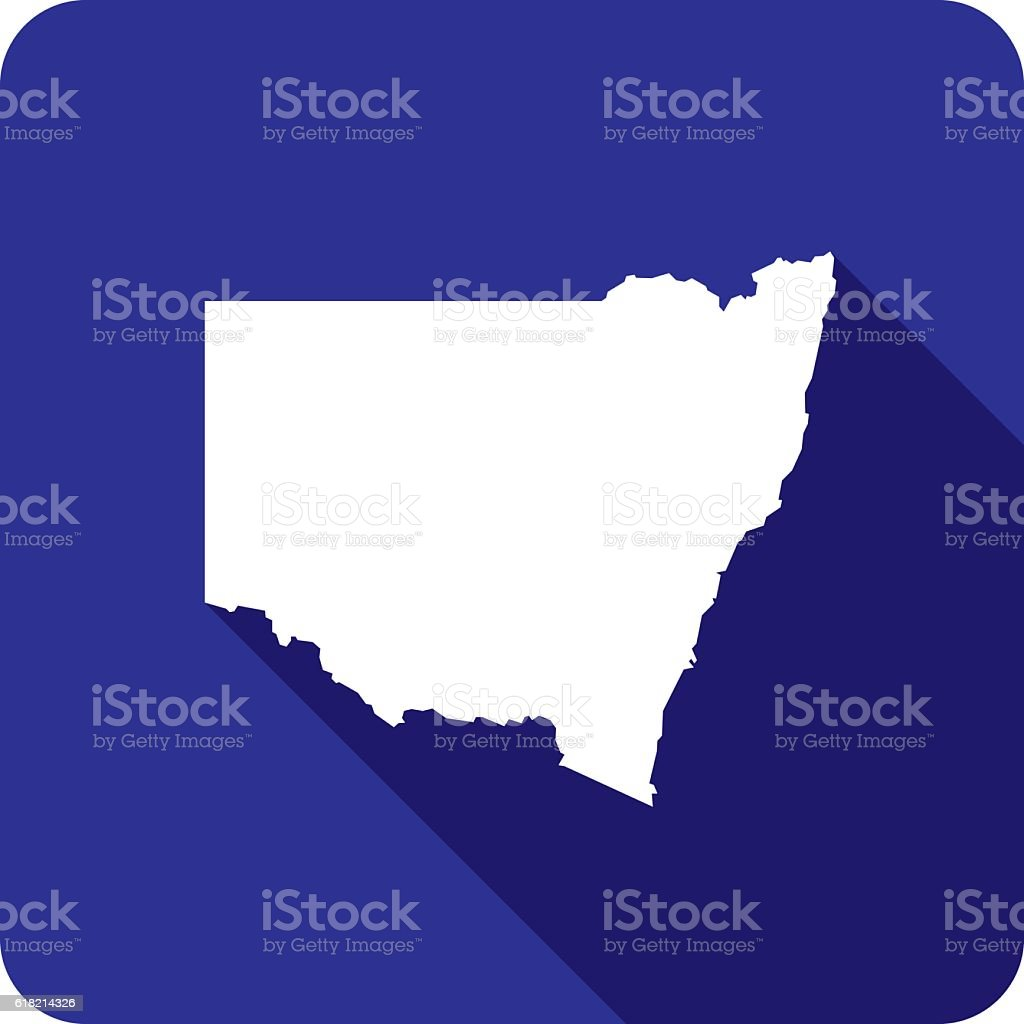New South Wales Icon Silhouette vector art illustration