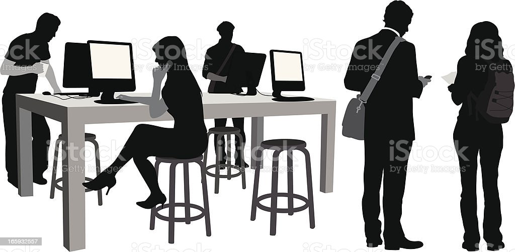 New Tech Vector Silhouette royalty-free stock vector art