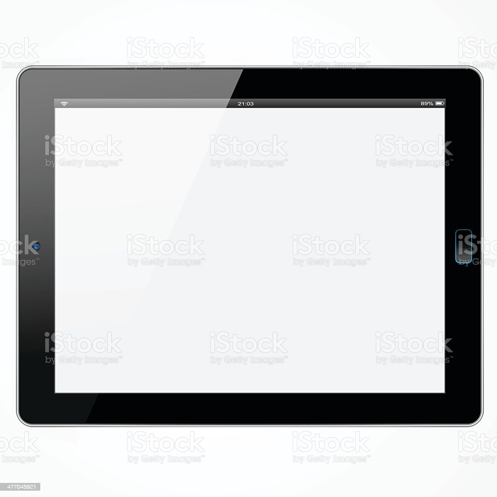 New Wide tablet vector art illustration
