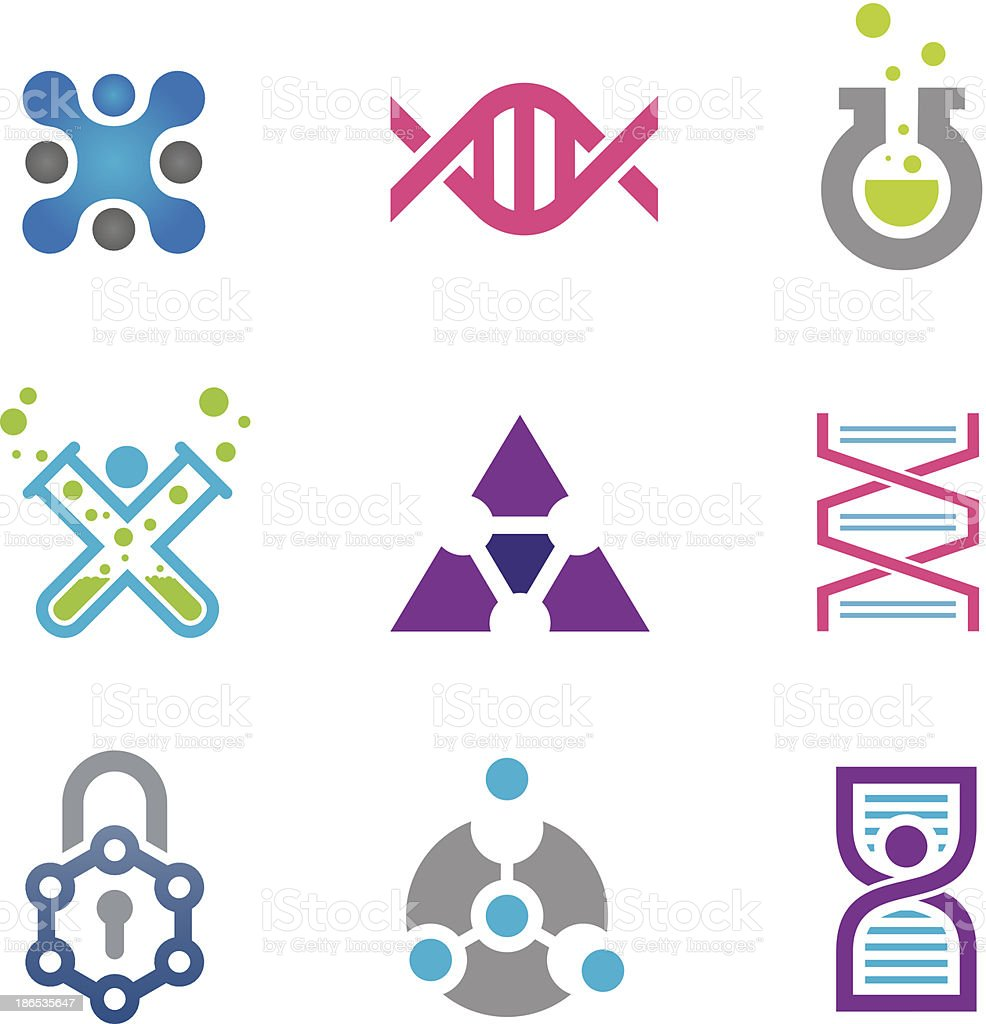 New world of cutting edge technology in science icon template royalty-free stock vector art