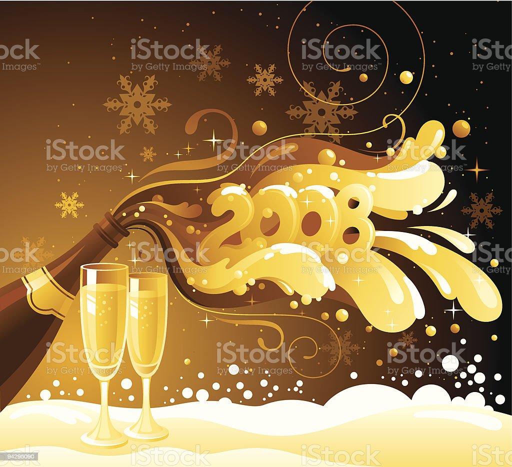 New Year 2008 royalty-free stock vector art