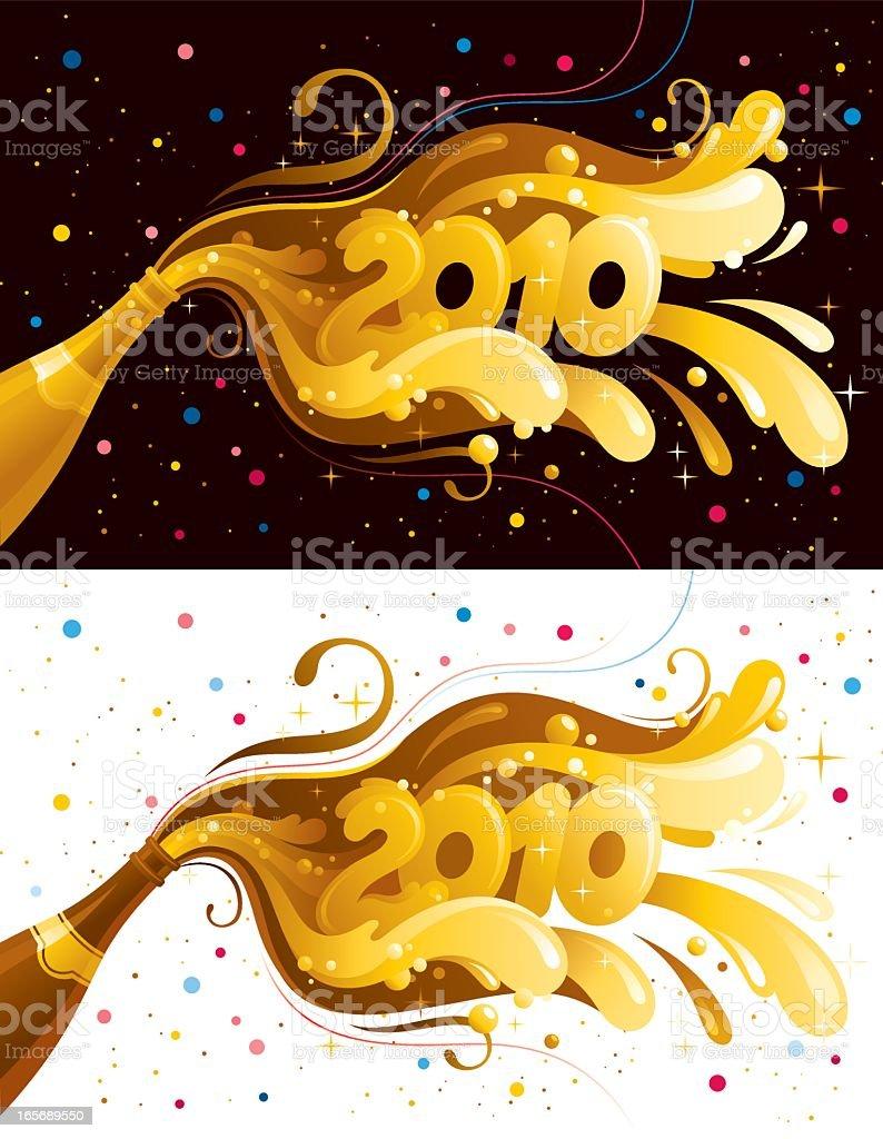 New Year 2010 banner set royalty-free stock vector art