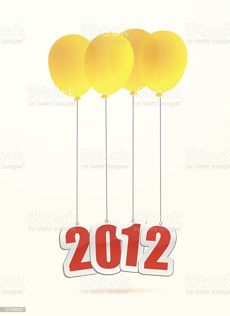 new year 2012 concepts vector art illustration
