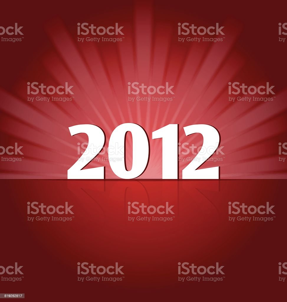 New Year 2012 on the Stage vector art illustration