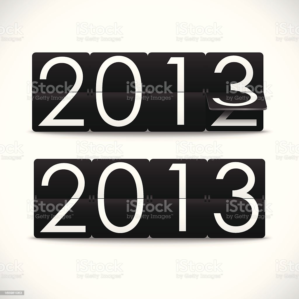 New Year 2013 Background royalty-free stock vector art