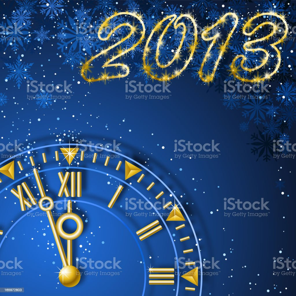 New Year 2013 Countdown royalty-free stock vector art