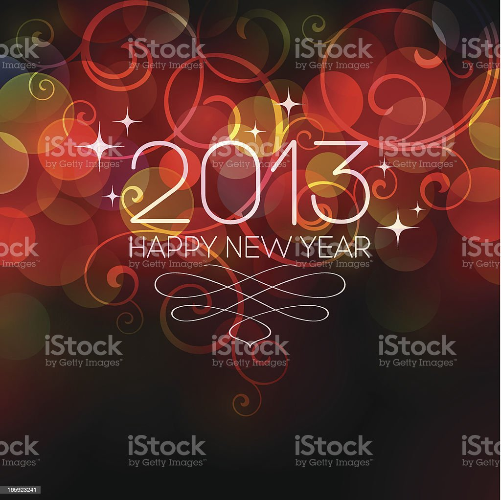 New Year 2013 royalty-free stock vector art