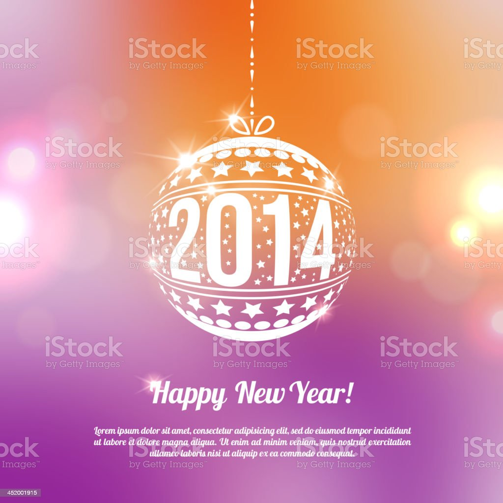 New year 2014 greeting card in minimalistic style stock vector art new year 2014 greeting card in minimalistic style royalty free stock vector art m4hsunfo