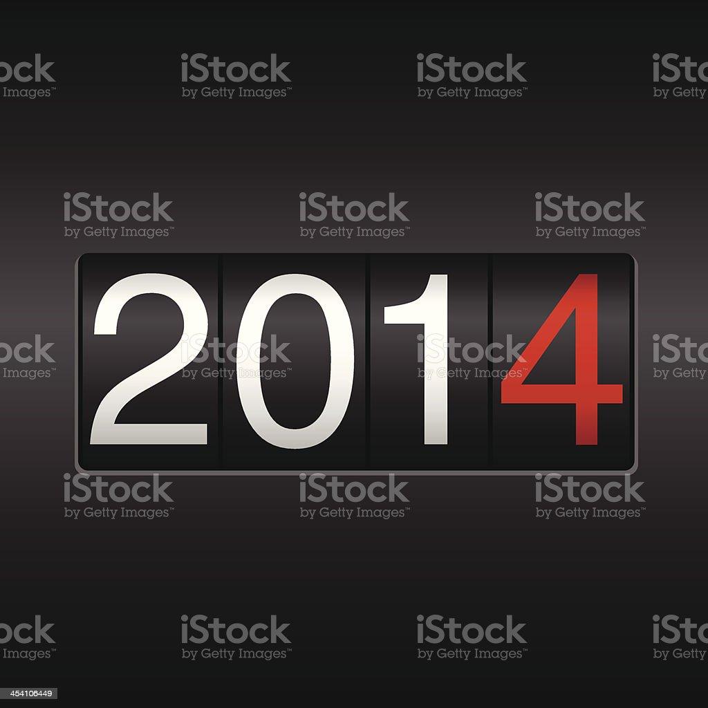 New Year 2014 Odometer vector art illustration