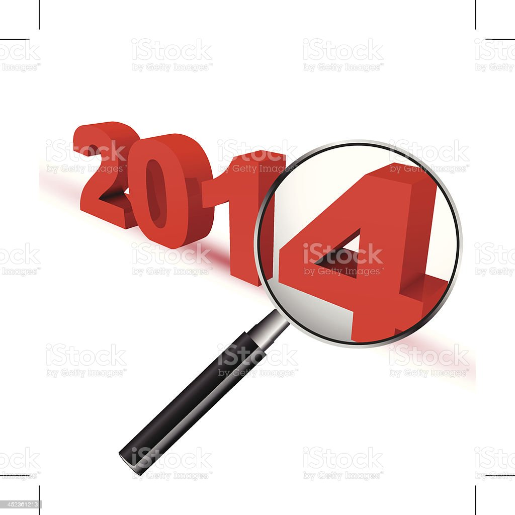 New Year 2014 Review royalty-free stock vector art