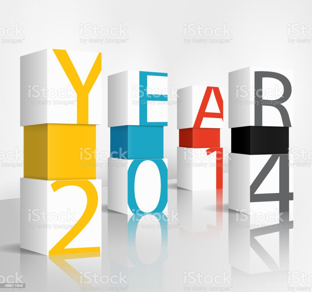New year 2014 technology concept royalty-free stock vector art