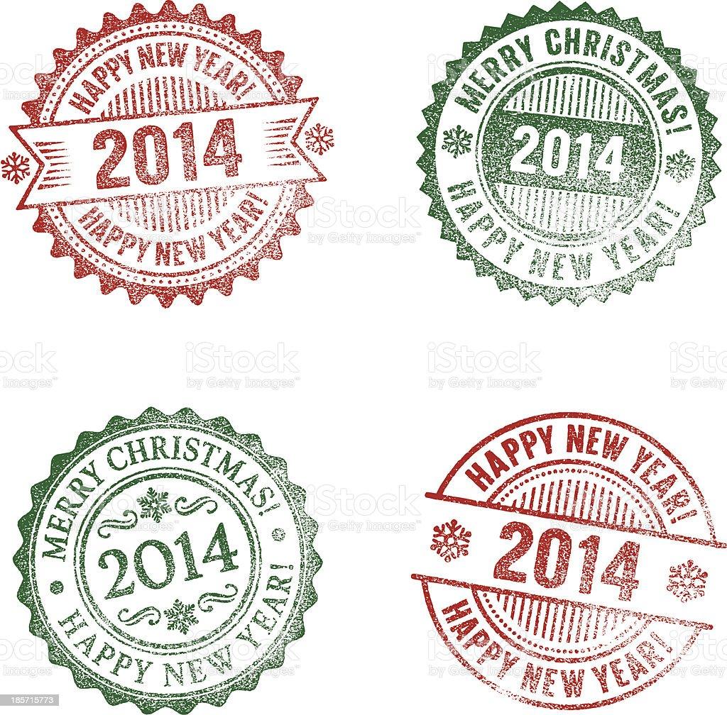 New Year 2014 royalty-free stock vector art