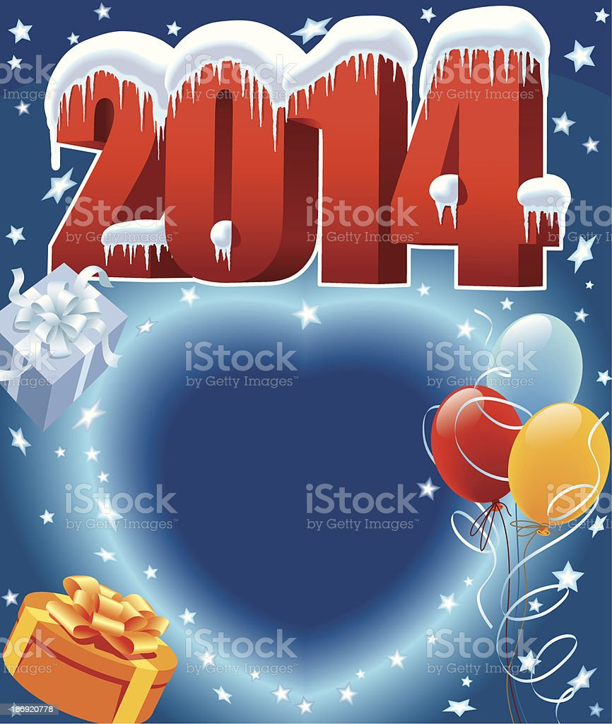 New Year 2014 royalty-free stock vector art