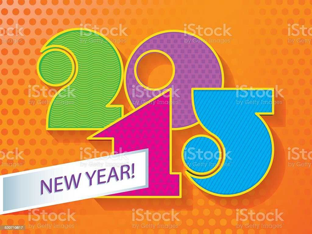 New Year! 2015 vector art illustration