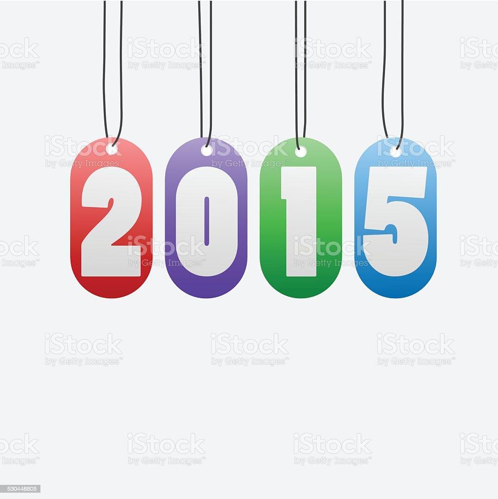 New Year 2015 vector art illustration