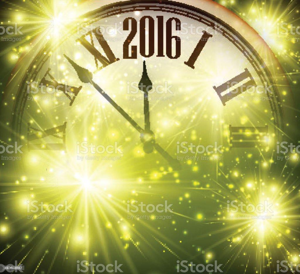 New Year 2016  background vector art illustration