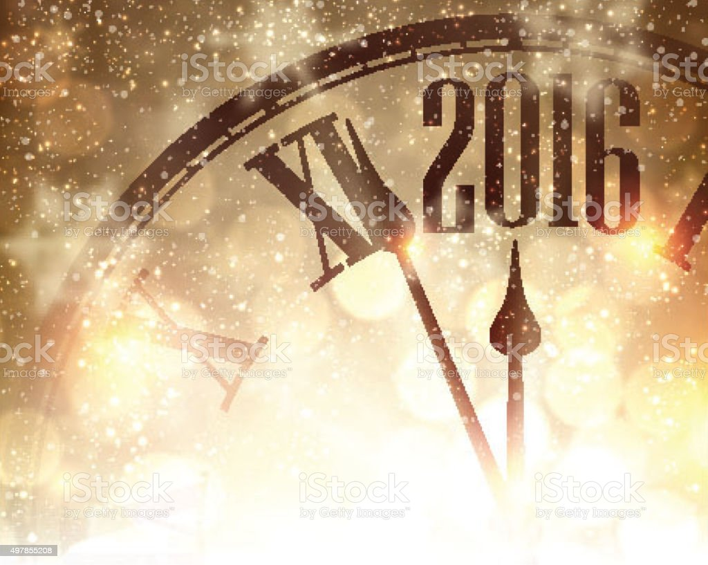 New Year 2016  background vector art illustration