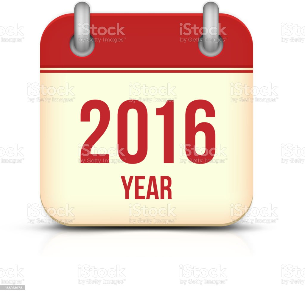 New Year 2016 Calendar Icon vector art illustration