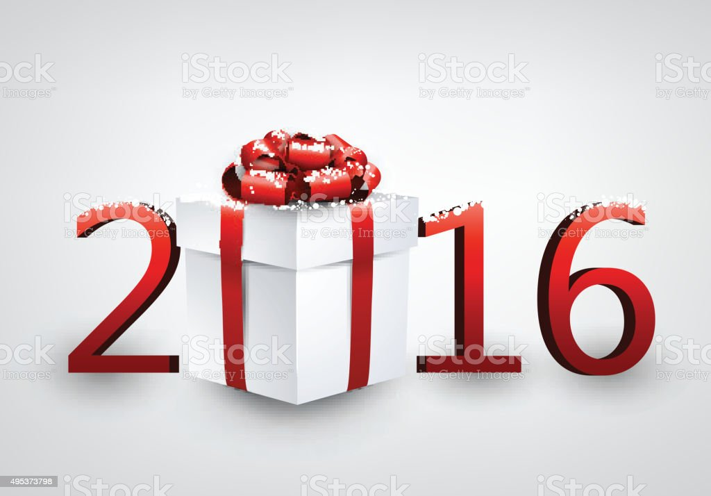 New Year 2016  card vector art illustration
