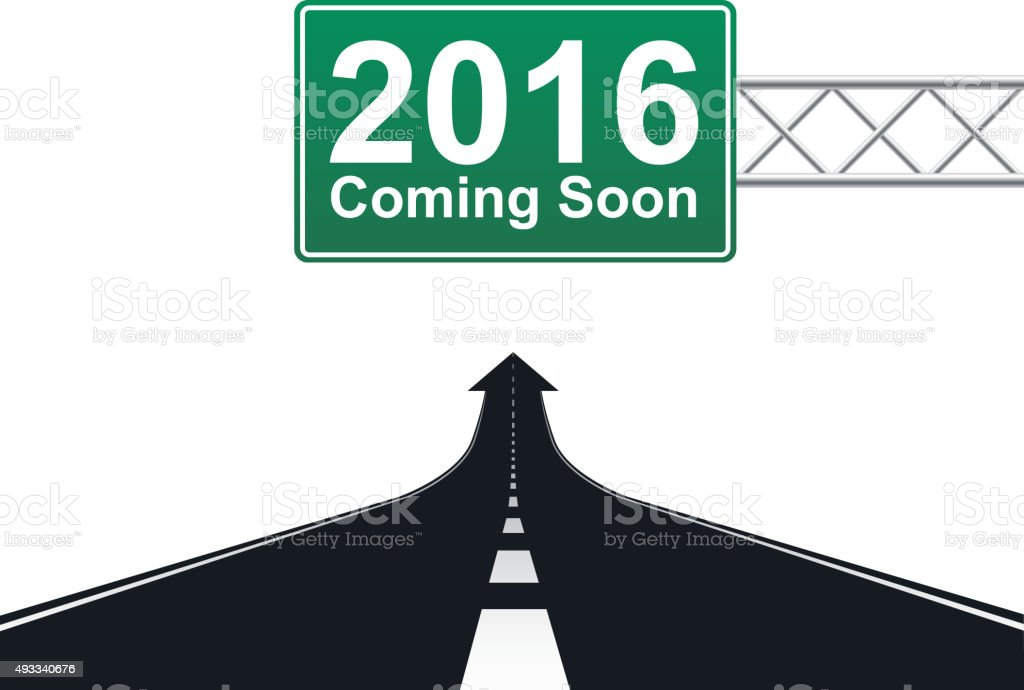 New year 2016 coming soon vector art illustration