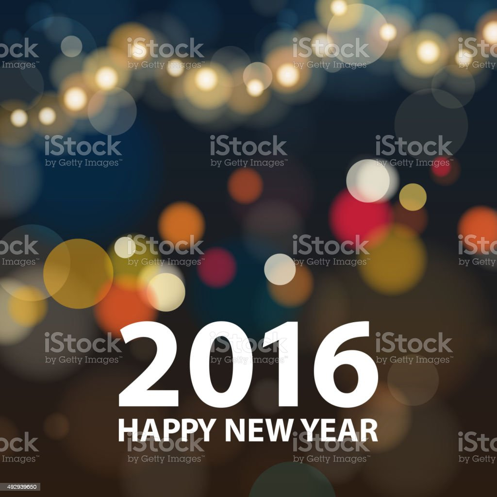 New Year 2016 sparkling background vector art illustration