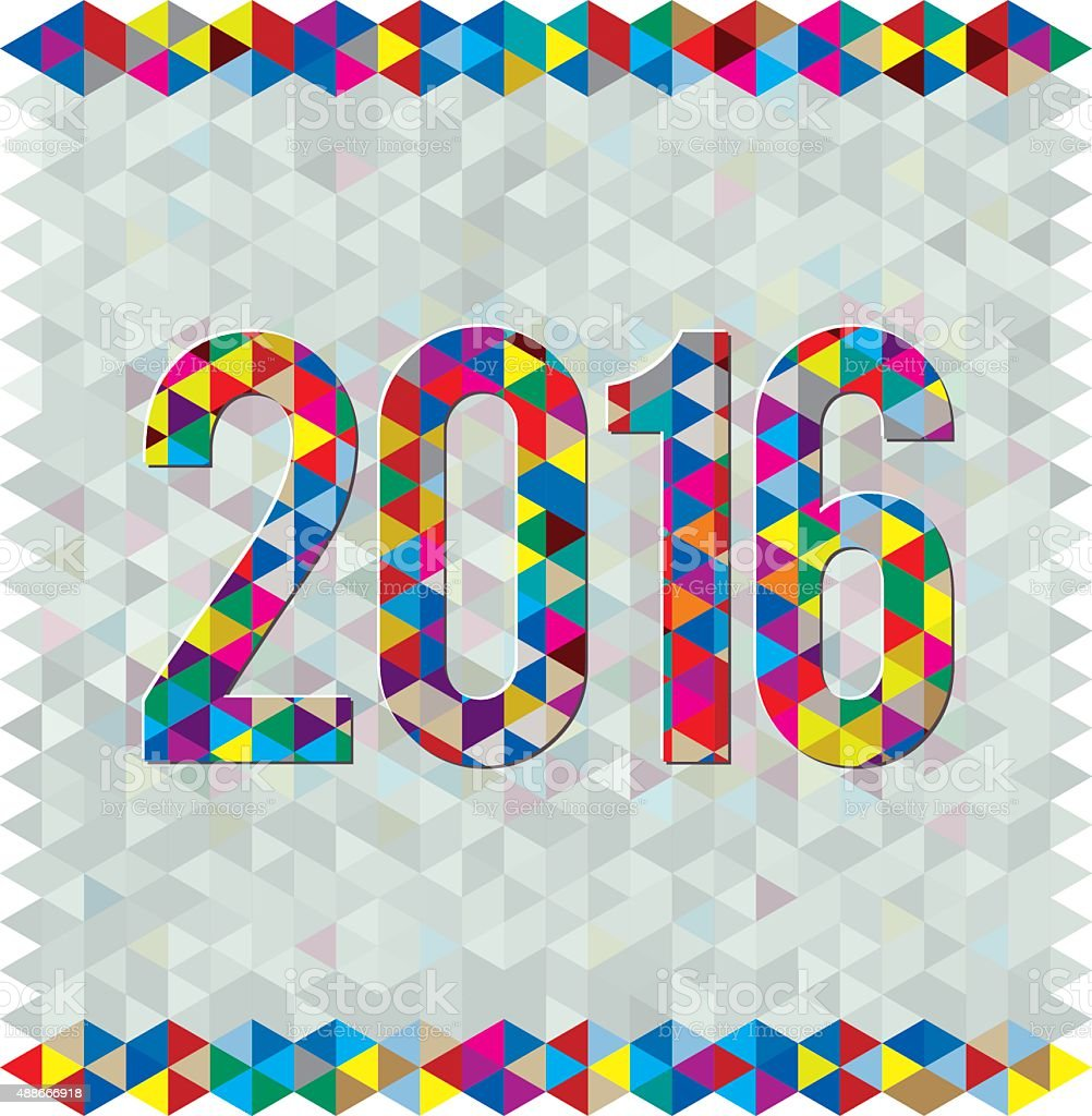 New Year 2016 vector art illustration