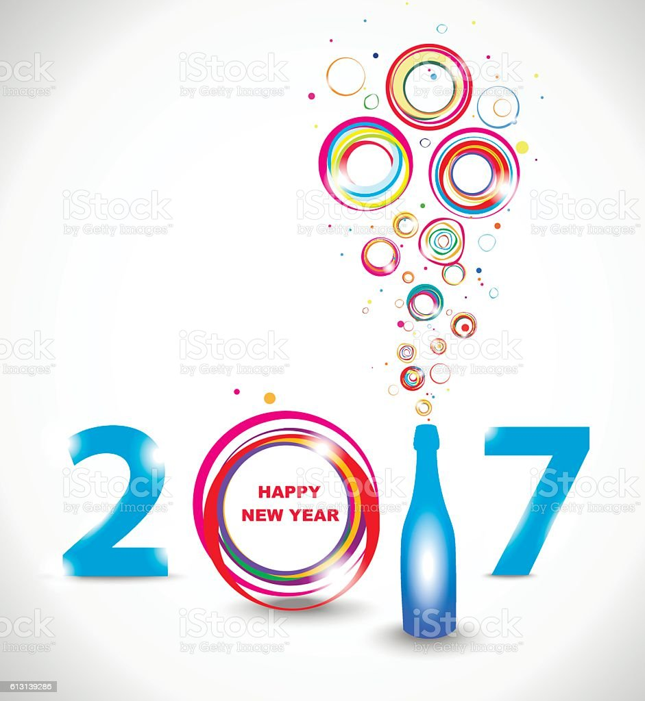 Background image 2017 - New Year 2017 In White Background Royalty Free Stock Vector Art