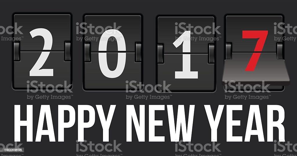 New Year 2017 vector art illustration