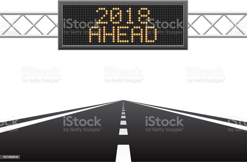 New year 2018 ahead vector art illustration