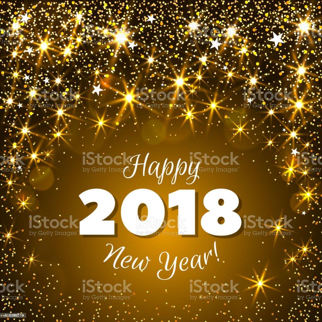 New Year 2018 stock vector art 816369210  iStock