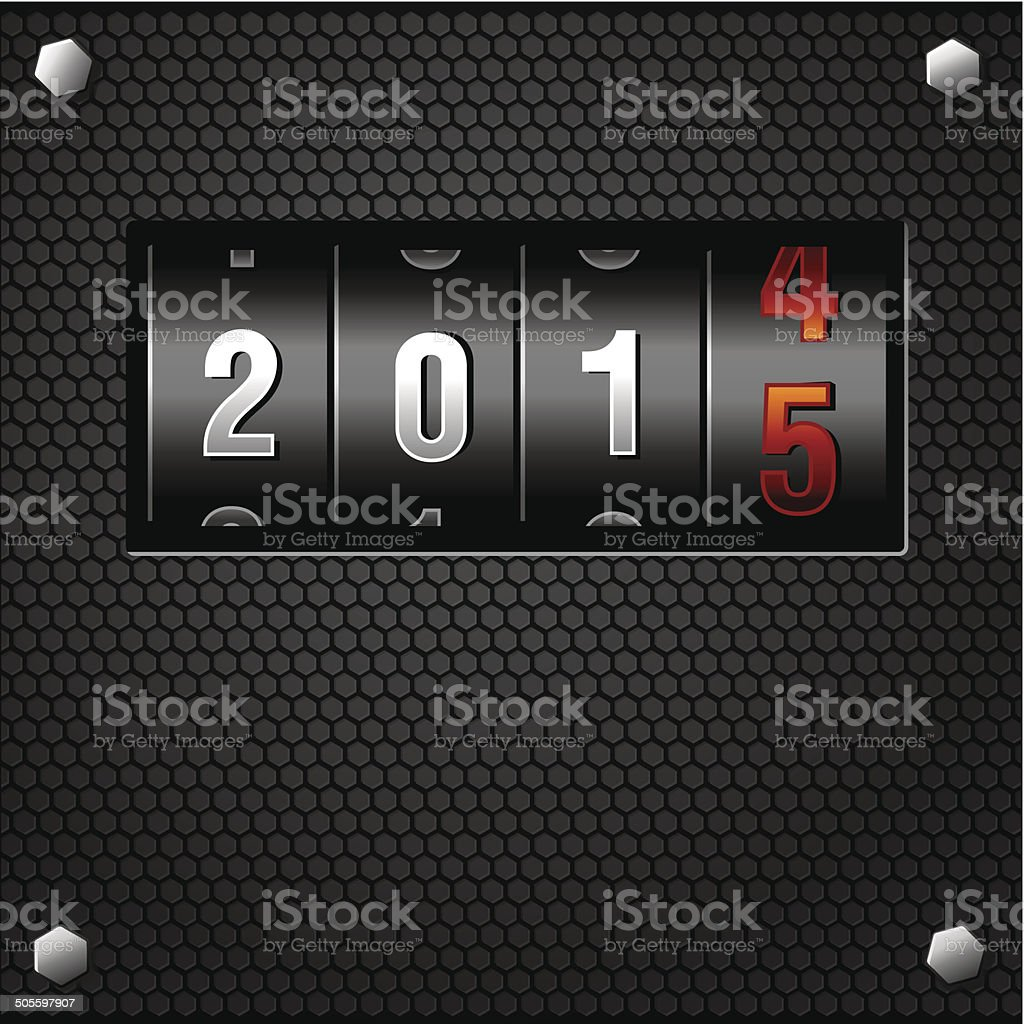 New Year Analog Counter detailed vector vector art illustration