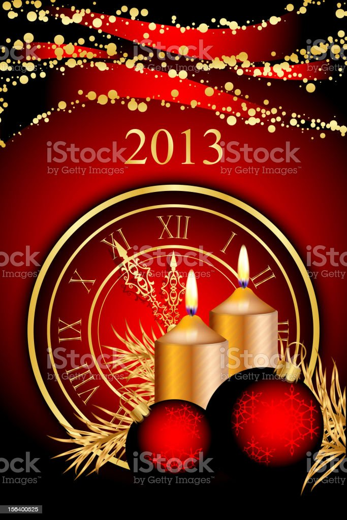 New Year background royalty-free stock vector art