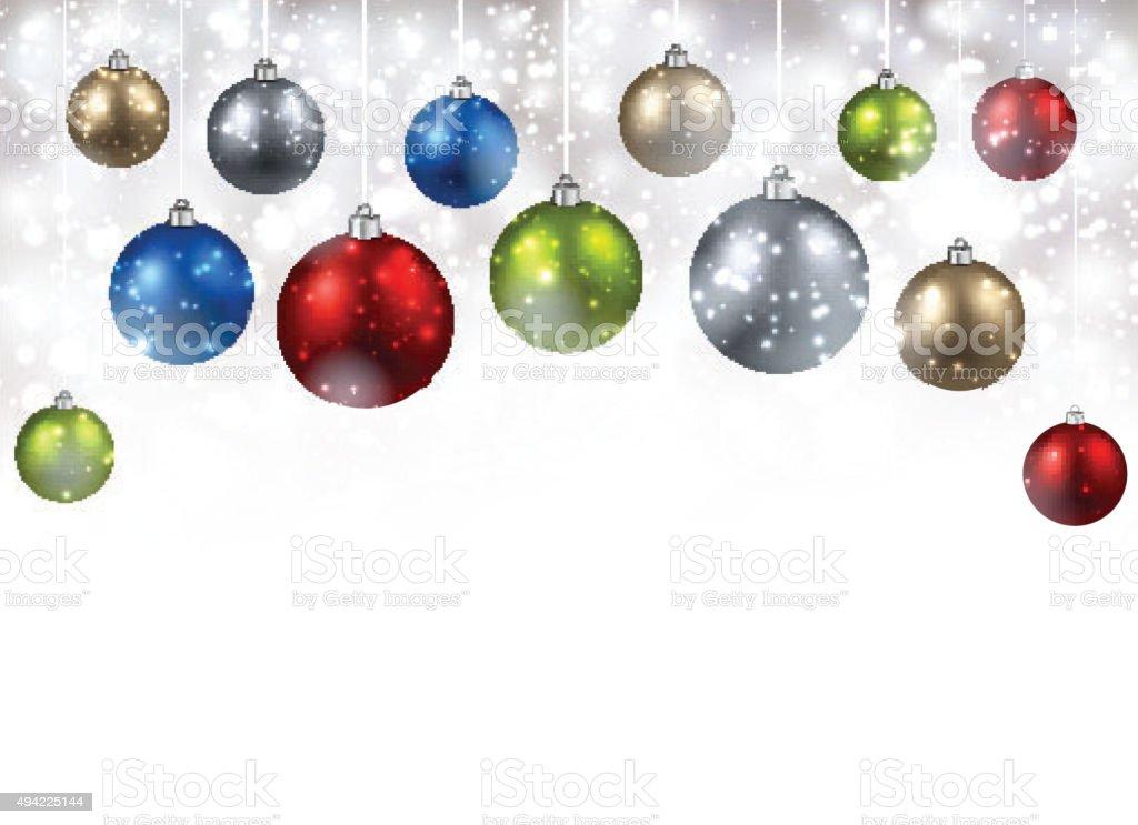 New Year background vector art illustration