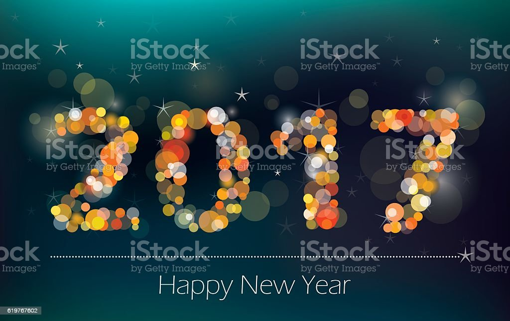 New Year Background vector art illustration
